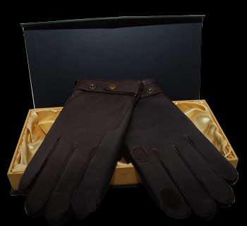 Inexpensive leather work gloves - Brown Leather Shooting Gloves 50 00